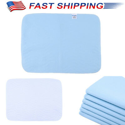 6PCS BED PAD REUSABLE UNDERPAD HOSPITAL GRADE INCONTINENCE WASHABLE 4 Layers US