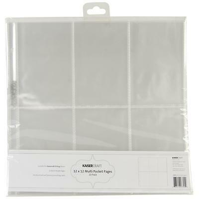 """Kaisercraft Captured Moments 12x12"""" Multi Pocket Pages #5 - Scrapbooking Refills"""