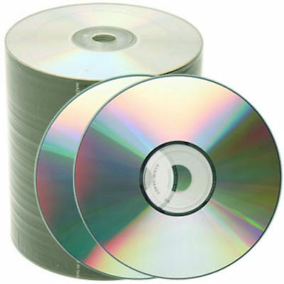 500 Pack CD-R 52X 700MB Shiny Silver Blank Record Disc Free Priority Mail