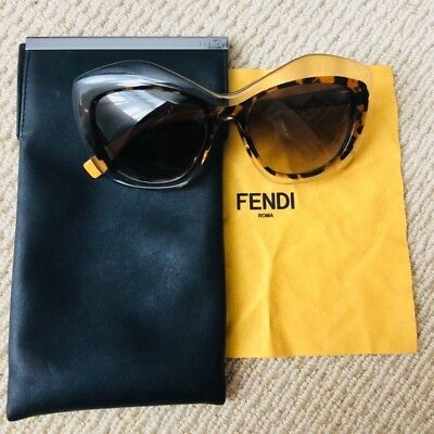 bd2606a5029 WOMEN S FENDI SUNGLASSES In Black Fs5124 Pre Owned With Box -  80.00 ...
