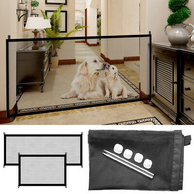 Easy Install Folding Safety Guard Mesh Net Pet Dog Cat Pet Stair Door Fence Gate