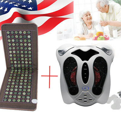 Circulation Blood Booster Foot Massager Infrared+Massage Heating Mattress Health