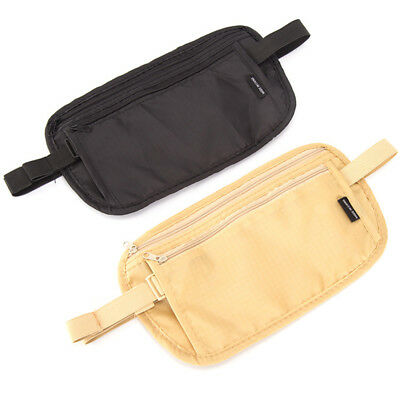 Hidden Security Travel Wallet Money Passport Card Ticket Waist Belt Bag Pocket