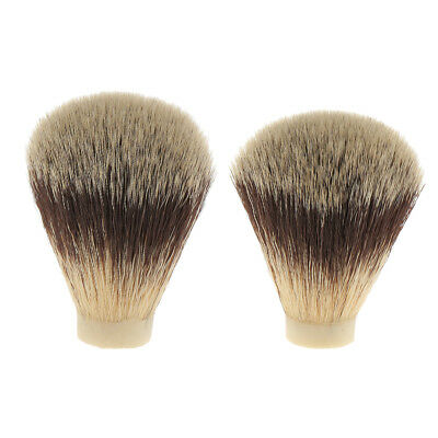 MagiDeal 2 Hair Shaving Brush Knot Head Barbe per manico spazzola per