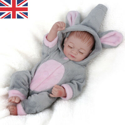 Mini Baby Vinyl Realistic Reborn Girl Doll Lifelike Newborn Baby Kid Toys Gifts