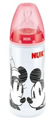 3 x NUK Mickey Bottle - Red - 300ml