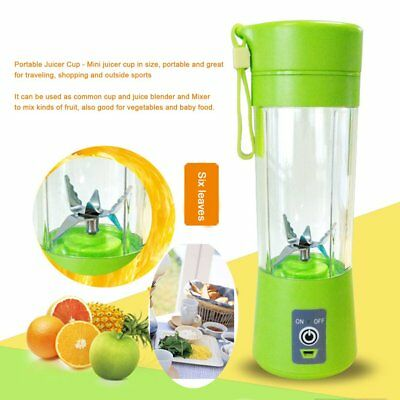 Mini Portable USB Electric Fruit Juicer Cup Rechargeable 400ml Smoothie Maker BE