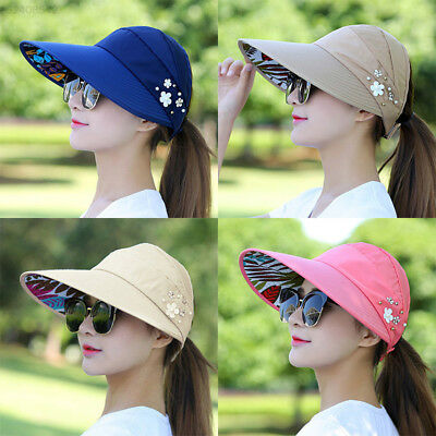 36E1 Fashion Women Wide Large Brim Folding Summer Sun Hat Outdoor UV Protection