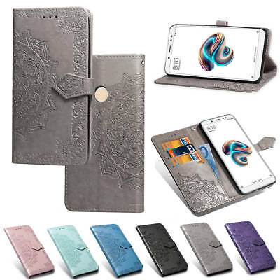 For Xiaomi Redmi 5 Plus 6A 6 Pro Magnetic Painted Leather Case Flip Wallet Cover