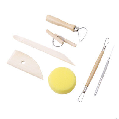 8PCS/Kit Useful Clay Modelling Tools Set Pottery Clay Air Drying Clay DIY Crafts