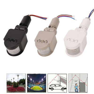 12M Outdoor Security PIR Infrared Motion Sensor Detector Switch 180° LED Light