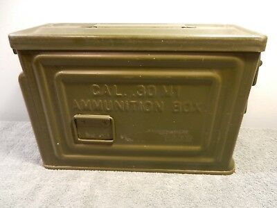 Vintage Wwii Ammo Can .30 Cal Metal Ammunition Box Crown M1 U.s. Flaming Bomb