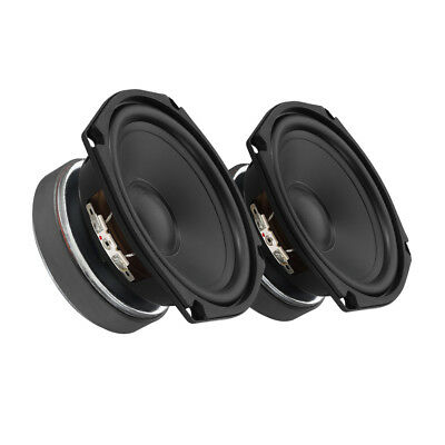 2x Monacor SPH-135AD Bass / Mid Speaker HiFi Mini Woofer 40W