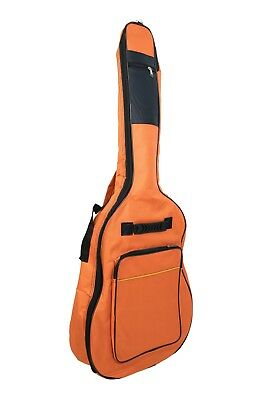 Strong Protection Pad Acoustic Guitar Soft Case Gig Bag 41 In Full Size Orange