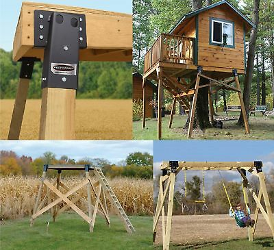 4 Pack Dual Angle Elevator Brackets 4x4 Deer Stand Hunting Blind