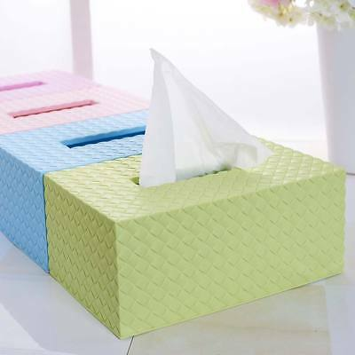 Durable Tissue Box Case Cover Bathroom Paper Napkin Holder Home Office Decor