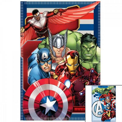 Hulk Iron Man Marvel Avengers Fleece Decke 140x100cm Kuscheldecke Kinder Teens