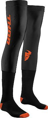New Adult S18 Thor S/M UK 6-9 Compression Knee Brace Socks Black Red Motocross