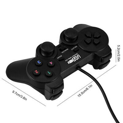 Wired USB Gamepad Gaming Controller Joypad Joystick Control per PC Computer CRIT