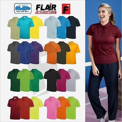 AWDis Cool Polo Shirt Breathable Training Gym Adult Casual Style T Shirt JC040