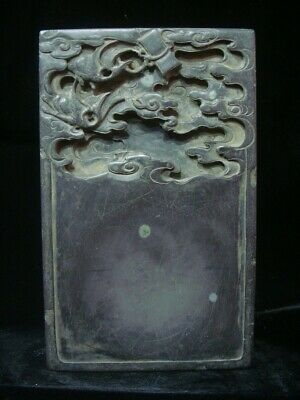 """Antique Chinese Hand Carving Ink Stone Ink Slab Marked """"GuoXiangXian"""""""
