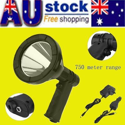 35W 12V CREE LED Handheld Spot Light Rechargeable Spotlight Hunting Shooting D