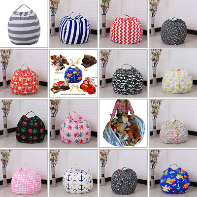 Best Stuffed Animal Toy Storage Bean Bag Cover Kids Bean Cover Soft Seat Z1