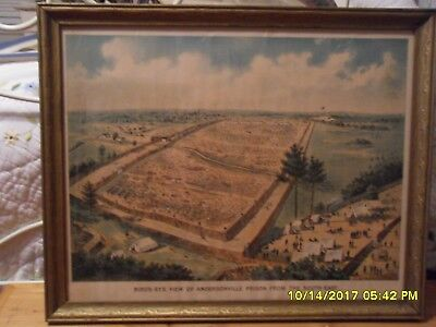 Matted and framed Magnus print of Andersonville Prison