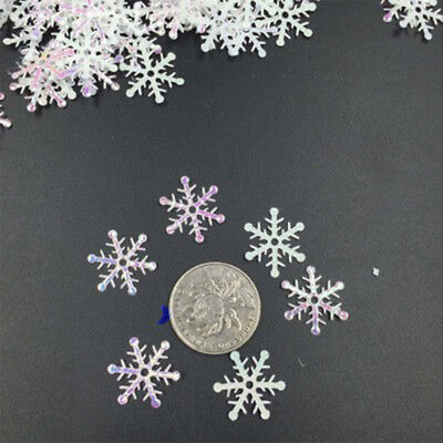F8F5 DIY Snowflake 300pcs Hanging Ornaments Featival Party Decor