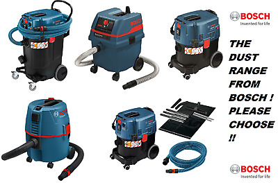 BOSCH NEW RANGE PRO DUST EXTRACTORS 240v WET & DRY PICK YOUR CAPACITY & CLASS !!