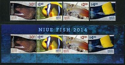 Niue 2014 Fische Fishes Poissons Pesci Meerestiere 1220-23 Block 173 MNH