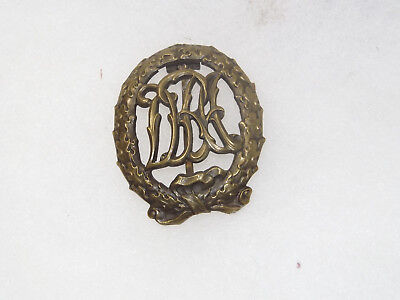 Germany: Original Vintage Pre-WW 2 Bronze Sports Badge (DRA) Circa 1934