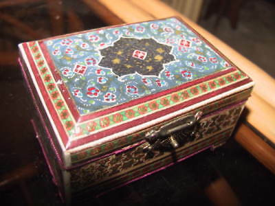 Islamic ornate red velour lined box