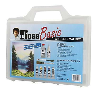 Bob Ross Joy of Painting Basic Oil Paint Set with Colours, Mediums & Accessories
