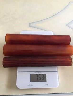 Antique vintage Cherry bakelite catalin faturan art deco 753gr