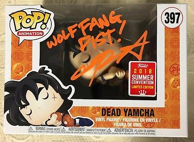Chris Sabat Signed Autographed YAMCHA  Funko Pop Dragon Ball Z JSA WITNESS COA 1