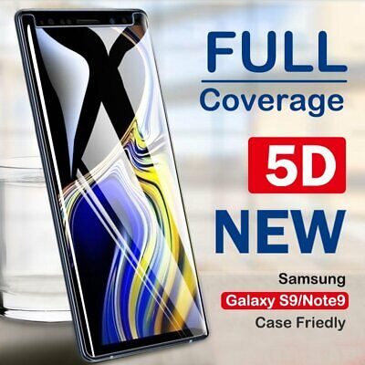 5D Tempered Glass Full Screen Protector For Samsung Galaxy Note 9[Case Friendly]