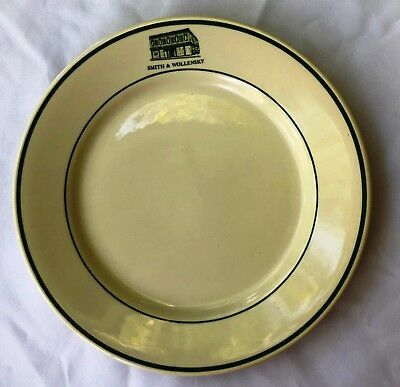 Collectible Smith & Wollensky Advertising Buffalo Plate, green trim