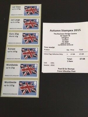 GB Post and GO Collector Set Stamps Gibraltar Union Flag Stampex 2015 MNH