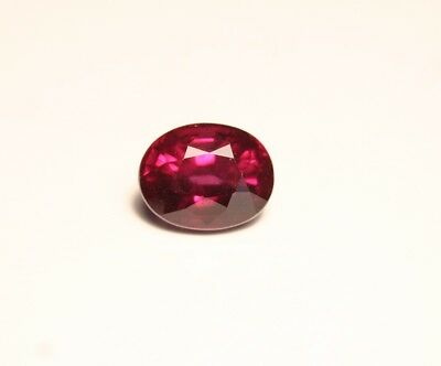 3.32ct Purple Umba Garnet - Precision Cut Oval - Excellent Clarity & Colour