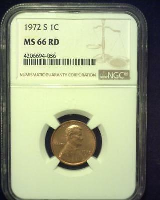 1972-S Lincoln Memorial Cent Gem Premier  Brilliant Certified Ngc Ms66 Red ~S330