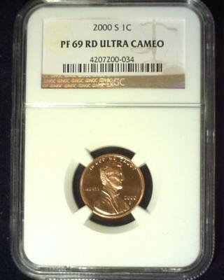 2000-S Lincoln Cent Near Perfect Proof Certified Ngc Pf69 Red Ultra Cameo ~S403