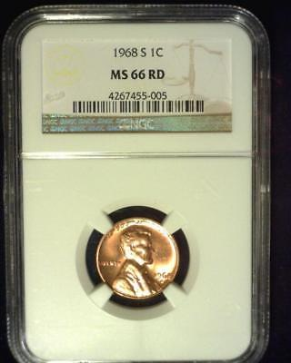 1968-S Lincoln Memorial Cent Premier Brilliant Certified Ngc Ms66 Red~S322