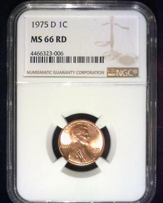 1975-D Lincoln Memorial Cent Gem Premier  Brilliant Certified Ngc Ms66 Red ~S336