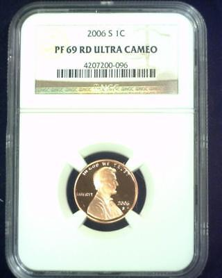 2006-S Lincoln Cent Near Perfect Proof Certified Ngc Pf69 Red Ultra Cameo ~S434