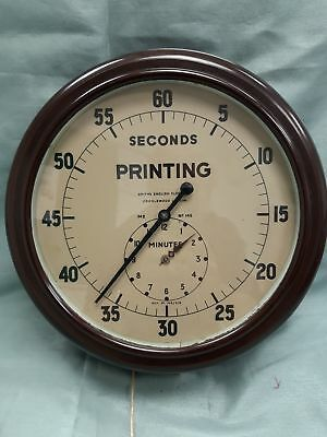Smiths Second Printing Round Brown Wall Clock With Pull Cord #505