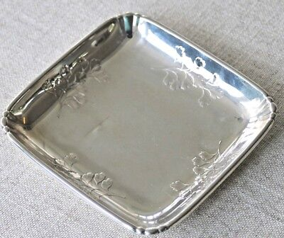 Vintage sterling silver Wallace american decorative small tray dish
