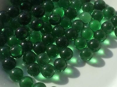 25 CLEAR BOTTLE GREEN GLASS MARBLES  16mm traditional game play trade party bag