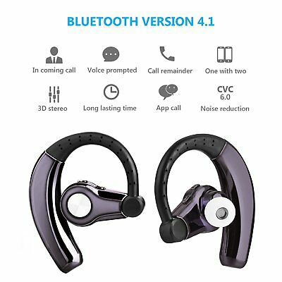 Wireless Sport Bluetooth Stereo Headphone Earbuds Headset Hands-free Universal