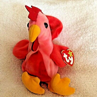 c88e6adbcbd STRUT THE ROOSTER Beanie Babies Baby Style w  Tag MINT TY RARE Bin C ...